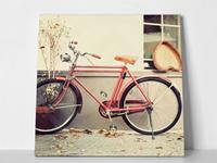 """ΠΙΝΑΚΑΣ 65x65cm """"OLD RED BIKE"""""""